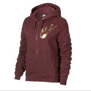 Nike Metallic Swish Zip Up Hoodie